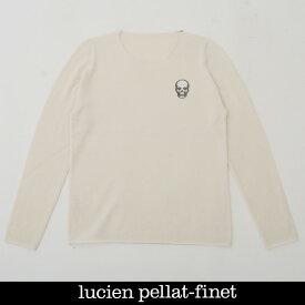 Lucien Pellat-finet(ルシアンペラフィネ)ワンポイントカシミアセーターホワイトNB81H 65311