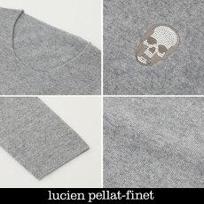 LucienPellat-finet(ルシアンペラフィネ)ワンポイントカシミアセーター