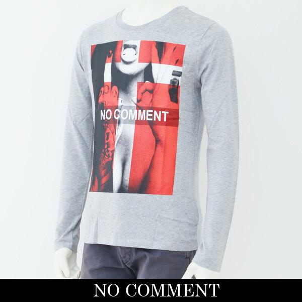 NO COMMENT PARIS(ノーコメントパリ)ロングTシャツ【グレー】Cross Ok LTN83