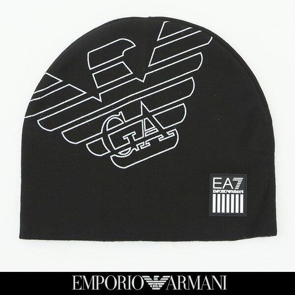 EMPORIO ARMANI(エンポリオアルマーニ)ニットキャップブラック275803 8A302