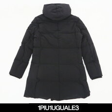 1PIU1UGUALE3(ウノピゥウノウグァーレトレ)4WAYWRAPDOWN/4WAYストレッチフーデットロングダウンコート