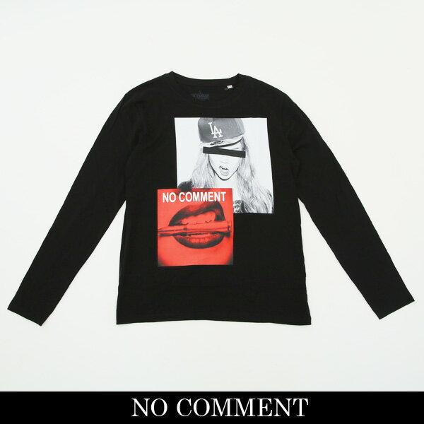 NO COMMENT PARIS(ノーコメントパリ)ロングTシャツ【ブラック】LTN145