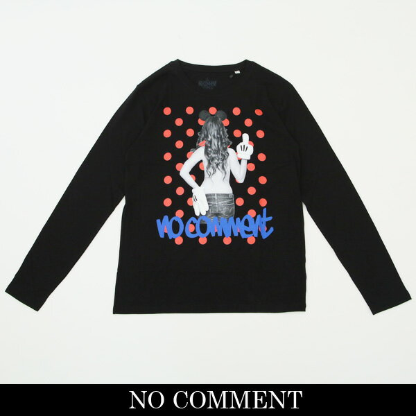 NO COMMENT PARIS(ノーコメントパリ)ロングTシャツ【ブラック】LTN118