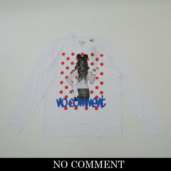 NO COMMENT PARIS(ノーコメントパリ)ロングTシャツ【ホワイト】LTN118