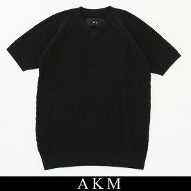 AKM(エイケイエム)RAGLAN V-NECKブラックK168 CNL006