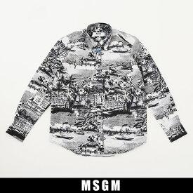MSGM(エムエスジーエム)カジュアルシャツブラック系2640ME10B 195052