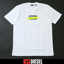 DIESEL(ディーゼル)プリント半袖TシャツホワイトSU2N PATI