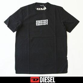 DIESEL(ディーゼル)プリント半袖Tシャツブラック00SSPC 0CAVP