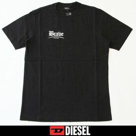 DIESEL(ディーゼル)プリント半袖Tシャツブラック00SSPA 0WATG