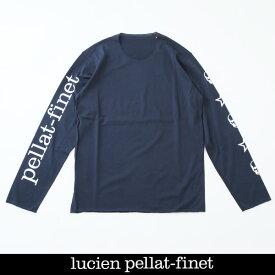 Lucien Pellat-finet(ルシアンペラフィネ)スカルロングTシャツネイビーEVU2107