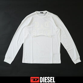 DIESEL(ディーゼル)ロングTシャツホワイト00S3A8 0CATM 100T-DIEGO-LS-A8 PULLOVER