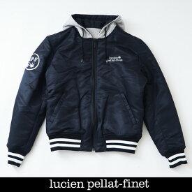 Lucien Pellat-finet ルシアンペラフィネリバーシブルナイロンブルゾンジャンバーネイビー×グレー213 81705 094