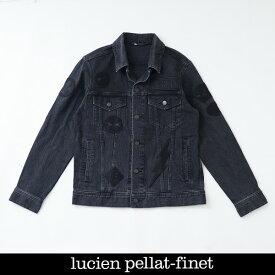 Lucien Pellat-finet ルシアンペラフィネデニムブルゾンジージャンブラック×グレー213 81712 084