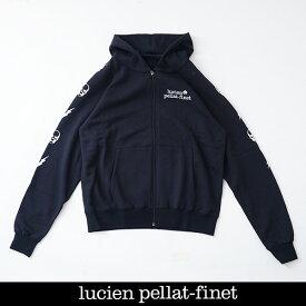 Lucien Pellat-finet(ルシアンペラフィネ)ジップアップパーカーブラックYMP729U(213 83712)