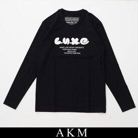AKM(エイケイエム)ロングTシャツ長袖TシャツブラックSX077/CS02 99【AKM L/S TEE MIX LOGO】