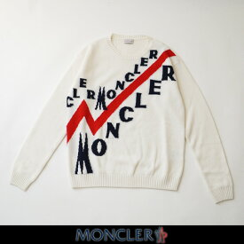 MONCLER モンクレールセーターホワイト×ネイビー×レッドメンズウェアーE2 091 9041600 A9046 002