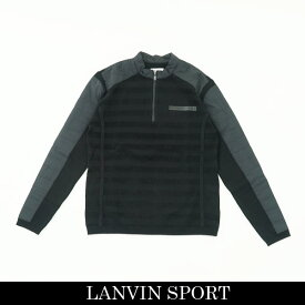 LANVIN SPORT(ランバン スポール)ジップアップセーターブラック系VMM4063B9N BK03
