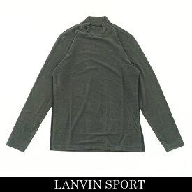 LANVIN SPORT(ランバン スポール)ハイネックロングTシャツチャコールグレー系VMO105222 GY04