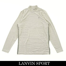 LANVIN SPORT(ランバン スポール)ハイネックロングTシャツライトグレー系VMO105222 WH05