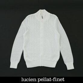 Lucien Pellat-finet(ルシアンペラフィネ)ニットジャンバーブルゾンホワイト233 55706