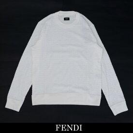 FENDI(フェンディ)トレーナーホワイトシェニール スウェットシャツホワイトFY0812 AA8A F0QA0