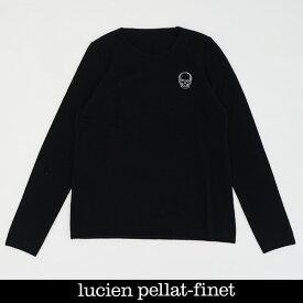 Lucien Pellat-finet(ルシアンペラフィネ)ワンポイントカシミアセーターブラックNB91H(213 85311)