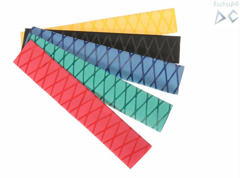 TaiSeiDC 熱収縮 ラバーグリップ  長さ500mm サイズ 内径40mm 5色選択(黒青緑赤黄)