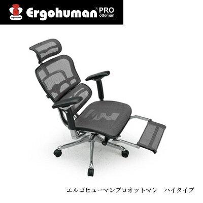 【ポイント10倍+エントリーで4倍 〜4/20まで】デスクチェア エルゴヒューマンプロオットマン EHP-LPL【リクライニング 高機能 メッシュチェアー 高機能 オットマン】