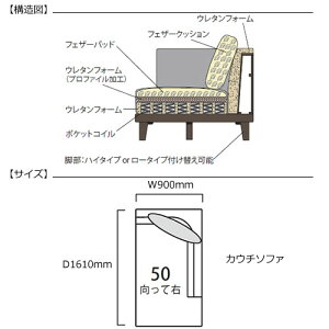 マチルダカウチR/CH271-50/SN【リビング/ダイニング/寝室/シェーズロング/日本フクラ/INCOON/インクーン】