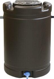 【国産】雨水タンク 茶 (直径)580mm (高さ)835mm 容量 185L 付属品あり