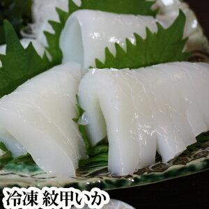紋甲いか 1枚 冷凍( 刺身用 イカ もんごう モンゴウ 肉厚 )