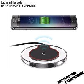 充電器 クリア 丸 ワイヤレス 充電器 Qi 無線充電 テン エス マックス テン アール スマホ Galaxy s8 s7