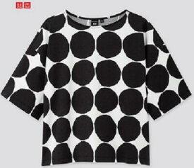 【2020夏最新コラボ】日本未上陸コラボ商品UNIQLO × Marimekkoユニクロ×マリメッコTシャツブラックドット