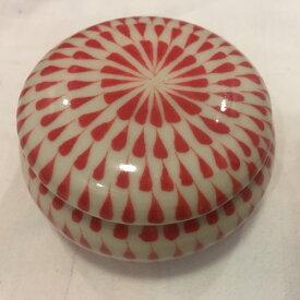 調味料入れ 蓋付き 赤 バッチャン焼き 陶器 ベトナム雑貨 アジアン雑貨 お土産