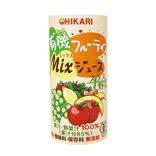 ●【オーサワ】ヒカリ 有機フルーティーMix ジュース プラス野菜 195g