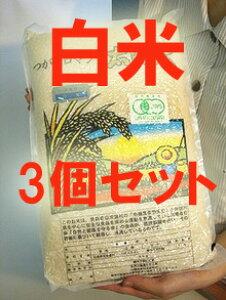 【まとめ買い】【(常温便)送料込み/クール代別途】有機JAS認定 太陽の有機米(つがるロマン)白米 15kg(5kg×3袋)※自然農法米 ※令和2年度米(HZ)※6月中旬頃〜新米への切替時期まで