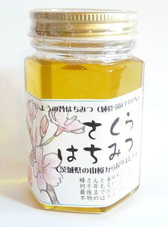 """Pure and domestic 100% old honey (cherry) 160 g * power of the bee's made! * Inventory disappears as soon as product name """"honey sober"""" and label changes"""