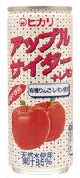●【オーサワ】ヒカリ アップルサイダー+レモン 250ml ※缶デザイン変更予定
