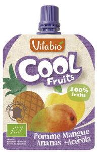 ●【オーサワ】Vitabio クールフルーツ(アップル・マンゴー・パイナップル) 90g※4月〜9月限定品