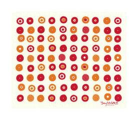 ●【オーサワ】e.スポンジワイプ(キャンディ レッド)水切り1枚