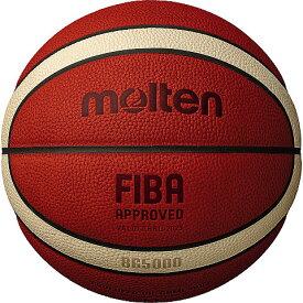 【取り寄せ】 molten モルテン BG5000 バスケットボール 国際公認球 検定球 7号球 天然皮革 ネーム加工可 B7G5000