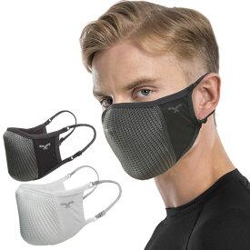 NAROO MASK ナルーマスク N0U エヌゼロユー UV 接触冷感素材 呼吸がし易いスポーツマスク GREY WHITE