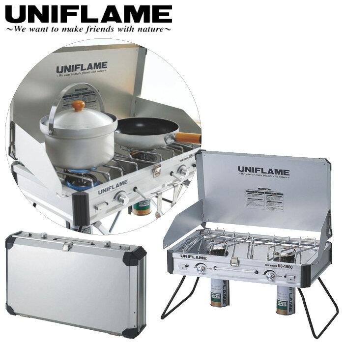 UNIFLAME ユニフレーム ツインバーナー US-1900 キャンプ用バーナー カセットボンベ 圧電点火 610305