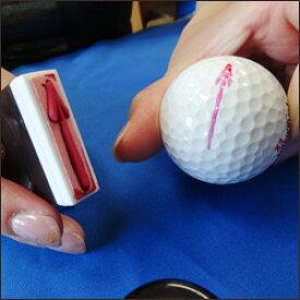 矢印マーキングスタンプ印面サイズ:6×31(mm)オールパーパスパッド(大)+溶剤とのセットです【 印鑑 ゴム印 スタンプ ハンコ ゴルフボール ラインマーカー 】