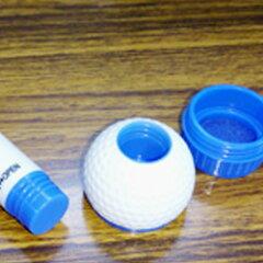 ゴルフボール用スタンプホルダー&インク・溶剤・外箱一式セットブルー・レッド