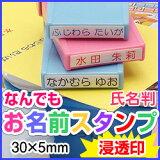 なんでも☆お名前氏名判シヤチハタ式印面:30×5(mm)補充インク・溶剤付お名前スタンプ