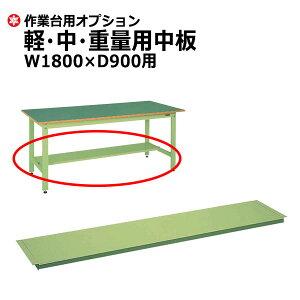 【クーポンあり】SAKAE 作業台 軽・中・重量専用 中板 W1800×D900用 グリーン SK-CKK-1890N 【送料無料 車上渡し品 返品不可】