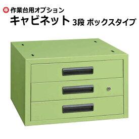 【クーポンあり】SAKAE 作業台 キャビネット ボックスタイプ グリーン SK-NKL-33【送料無料 車上渡し品 返品不可】【個人宅配送不可】