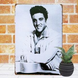 エルビスプレスリー sh ポスター グッズ ブリキ看板k アートパネル ?Elvis Presley エルヴィスプレスリー インテリア サインプレート cdジャケット アート 昭和レトロ 白黒 モノクロ アメリカン雑貨 絵画 店舗用 ポイント消化 メール便可
