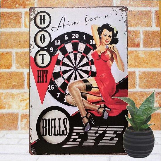 ブリキ看板 ポスター ダーツバーの女 インテリア 壁飾り 雑貨 小物